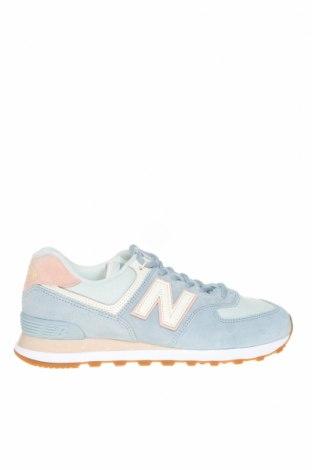 Дамски обувки New Balance, Размер 41, Цвят Син, Естествен велур, текстил, Цена 118,30лв.