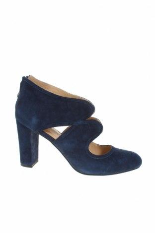 Дамски обувки Pier One, Размер 41, Цвят Син, Естествен велур, Цена 32,90лв.