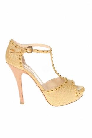 Дамски обувки Prada, Размер 38, Цвят Жълт, Текстил, естествена кожа, Цена 101,22лв.