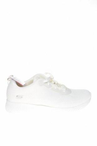 Γυναικεία παπούτσια Skechers, Μέγεθος 41, Χρώμα Λευκό, Κλωστοϋφαντουργικά προϊόντα, Τιμή 20,65€
