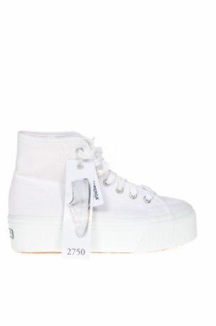Γυναικεία παπούτσια Superga, Μέγεθος 36, Χρώμα Λευκό, Κλωστοϋφαντουργικά προϊόντα, Τιμή 46,01€