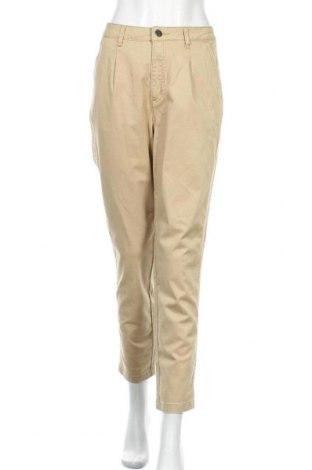 Дамски панталон Amy Vermont, Размер L, Цвят Бежов, 97% памук, 2% еластан, Цена 6,30лв.