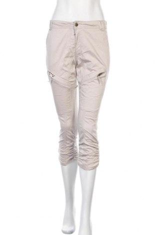 Дамски панталон Culture, Размер S, Цвят Бежов, 98% памук, 2% еластан, Цена 6,04лв.