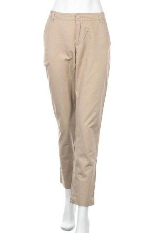 Дамски панталон Frk., Размер L, Цвят Бежов, Памук, Цена 43,68лв.