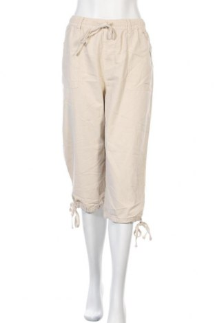 Дамски панталон Karen Scott, Размер L, Цвят Бежов, Памук, Цена 37,49лв.