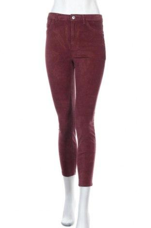 Дамски панталон Lefties, Размер S, Цвят Червен, 98% памук, 2% еластан, Цена 25,75лв.