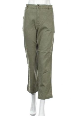 Дамски панталон Monki, Размер S, Цвят Зелен, Памук, Цена 22,82лв.