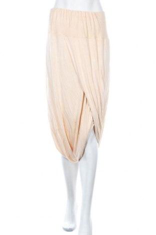 Дамски панталон Namaste, Размер L, Цвят Бежов, Вискоза, Цена 31,09лв.