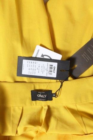Pantaloni de femei ONLY, Mărime M, Culoare Galben, 74% poliester, 20% viscoză, 6% elastan, Preț 170,23 Lei