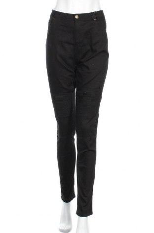 Дамски панталон Piazza Italia, Размер L, Цвят Черен, 71% памук, 27% полиестер, 2% еластан, Цена 16,54лв.