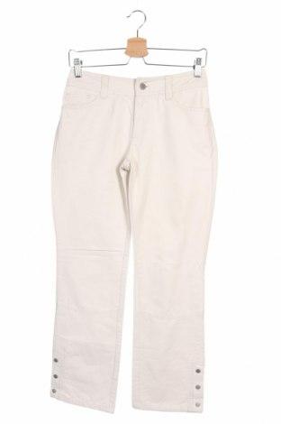 Дамски панталон Stefanel, Размер S, Цвят Бежов, 76% памук, 24% полиамид, Цена 18,16лв.