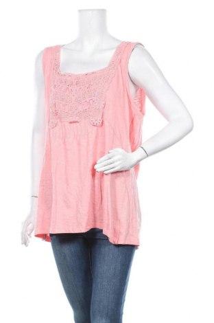 Γυναικείο αμάνικο μπλουζάκι Avella, Μέγεθος 3XL, Χρώμα Ρόζ , Βαμβάκι, Τιμή 14,03€