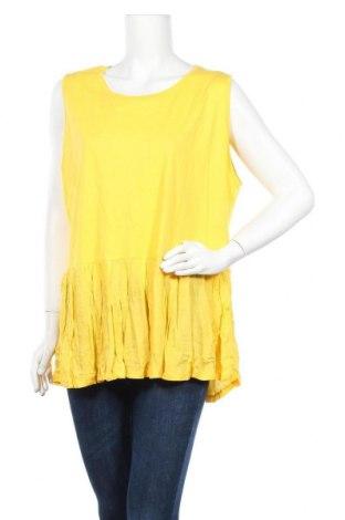 Γυναικείο αμάνικο μπλουζάκι Avella, Μέγεθος XXL, Χρώμα Κίτρινο, Βαμβάκι, βισκόζη, Τιμή 18,70€