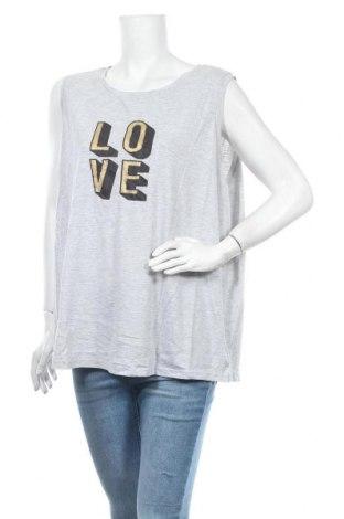 Γυναικείο αμάνικο μπλουζάκι Avella, Μέγεθος XXL, Χρώμα Γκρί, Πολυεστέρας, βαμβάκι, Τιμή 9,35€