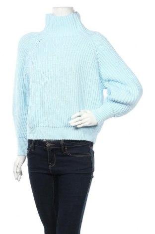 Дамски пуловер, Размер M, Цвят Син, Вълна, Цена 24,84лв.