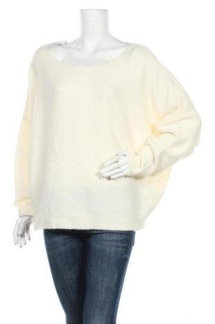 Дамски пуловер American Vintage, Размер M, Цвят Екрю, 48% полиамид, 32% вълна, 16% акрил, 4% еластан, Цена 32,25лв.