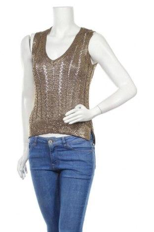 Дамски пуловер BCBG Max Azria, Размер S, Цвят Златист, Полиестер, Цена 49,00лв.