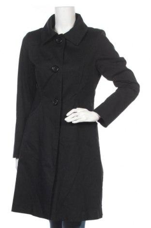 Дамско палто H&M, Размер M, Цвят Черен, 98% памук, 2% еластан, Цена 48,00лв.