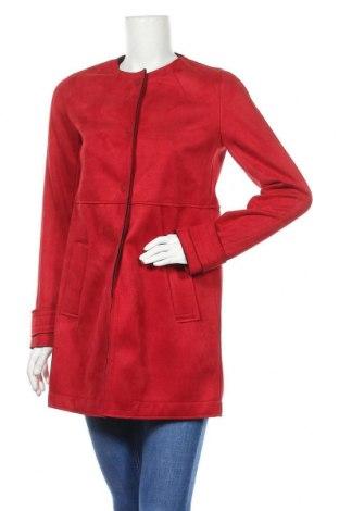 Дамско палто Zara, Размер S, Цвят Червен, Цена 58,50лв.