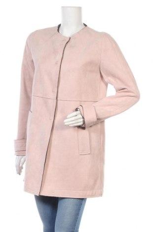Дамско палто Zara, Размер L, Цвят Розов, 100% полиестер, Цена 56,25лв.