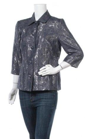 Дамско сако Alfred Dunner, Размер M, Цвят Син, 62% памук, 29% полиестер, 9% метални нишки, Цена 17,64лв.