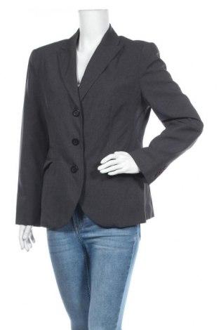 Дамско сако Designer S, Размер L, Цвят Сив, 92% полиестер, 8% вискоза, Цена 8,79лв.