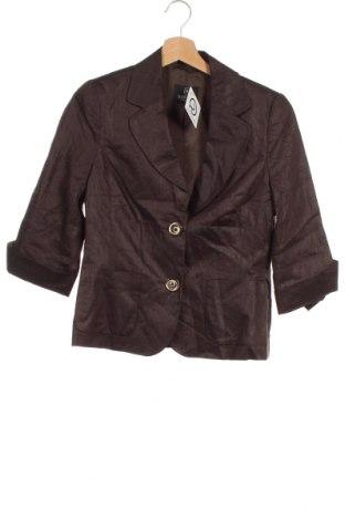 Дамско сако Madeleine, Размер XS, Цвят Кафяв, Лен, Цена 3,22лв.