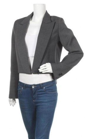 Дамско сако MM6 Maison Martin Margiela, Размер XL, Цвят Сив, 54% полиестер, 44% вълна, 2% еластан, Цена 220,92лв.