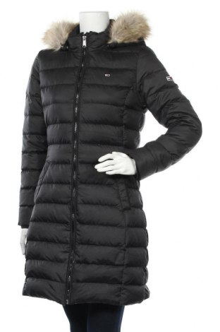 Γυναικείο μπουφάν Tommy Hilfiger, Μέγεθος M, Χρώμα Μαύρο, Πολυεστέρας, φτερά και πούπουλα, Τιμή 190,21€