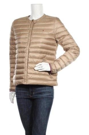 Γυναικείο μπουφάν Tommy Hilfiger, Μέγεθος L, Χρώμα  Μπέζ, Πολυαμίδη, φτερά και πούπουλα, Τιμή 138,66€