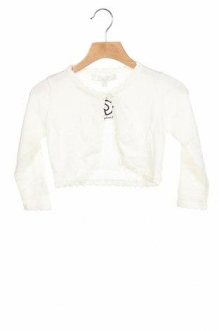 Детска жилетка, Размер 18-24m/ 86-98 см, Цвят Бял, Памук, Цена 17,01лв.