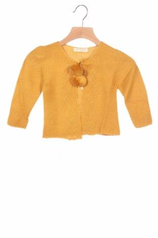 Детска жилетка Lola Palacios, Размер 18-24m/ 86-98 см, Цвят Жълт, Акрил, Цена 23,40лв.