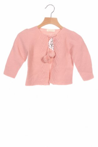 Детска жилетка Lola Palacios, Размер 3-4y/ 104-110 см, Цвят Розов, Акрил, Цена 22,05лв.