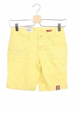 Παιδικό κοντό παντελόνι Arizona Jean Co, Μέγεθος 13-14y/ 164-168 εκ., Χρώμα Κίτρινο, 98% βαμβάκι, 2% ελαστάνη, Τιμή 5,91€