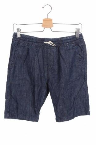 Παιδικό κοντό παντελόνι H&M, Μέγεθος 12-13y/ 158-164 εκ., Χρώμα Μπλέ, 90% βαμβάκι, 10% πολυεστέρας, Τιμή 8,83€