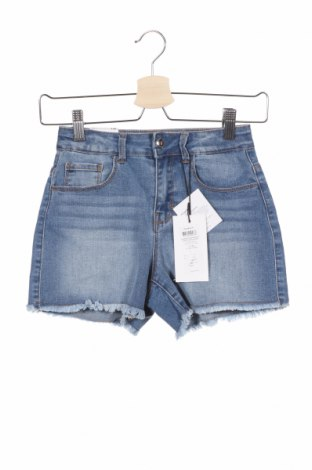 Детски къс панталон Name It, Размер 8-9y/ 134-140 см, Цвят Син, 71% памук, 24% полиестер, 3% вискоза, 2% еластан, Цена 19,72лв.