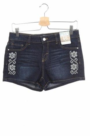 Детски къс панталон Route 66, Размер 15-18y/ 170-176 см, Цвят Син, 62% рамия, 19% памук, 18% полиестер, 1% еластан, Цена 6,04лв.