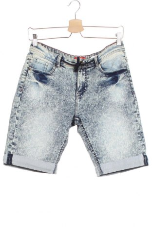 Детски къс панталон Tissaia, Размер 14-15y/ 168-170 см, Цвят Син, 65% памук, 33% полиестер, 2% еластан, Цена 8,74лв.