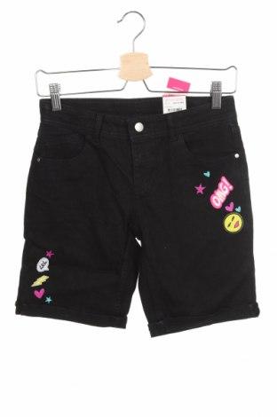 Детски къс панталон Total Girl, Размер 14-15y/ 168-170 см, Цвят Черен, 57% рамия, 25% памук, 17% полиестер, 1% еластан, Цена 28,93лв.