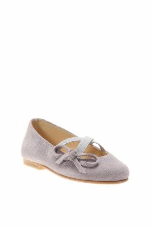 Детски обувки Lola Palacios, Размер 24, Цвят Сив, Естествен велур, текстил, Цена 59,25лв.