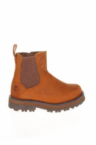 Детски обувки Timberland, Размер 22, Цвят Кафяв, Естествена кожа, текстил, Цена 189,00лв.
