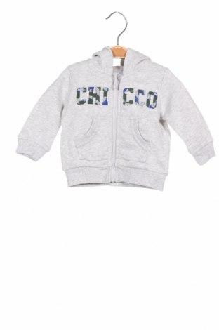 Детски суичър Chicco, Размер 3-6m/ 62-68 см, Цвят Сив, Памук, Цена 19,80лв.