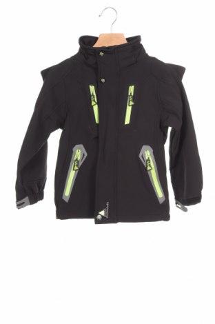 Детско спортно яке Peak Mountain, Размер 4-5y/ 110-116 см, Цвят Черен, 94% полиестер, 6% еластан, Цена 15,96лв.