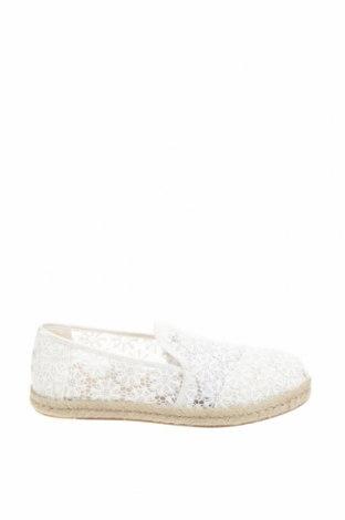 Εσπάδριλλες Toms, Μέγεθος 39, Χρώμα Λευκό, Κλωστοϋφαντουργικά προϊόντα, Τιμή 20,10€