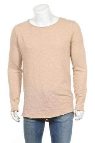 Bluză de bărbați Review, Mărime L, Culoare Bej, 55% bumbac, 42% poliester, 3% elastan, Preț 42,37 Lei