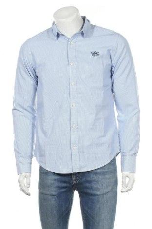 Мъжка риза Hilfiger Denim, Размер M, Цвят Син, Памук, Цена 28,80лв.