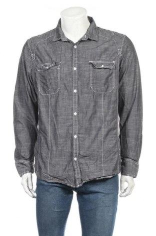 Мъжка риза INC International Concepts, Размер XL, Цвят Сив, Памук, Цена 11,34лв.