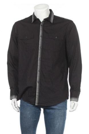 Мъжка риза INC International Concepts, Размер L, Цвят Черен, Памук, Цена 10,29лв.