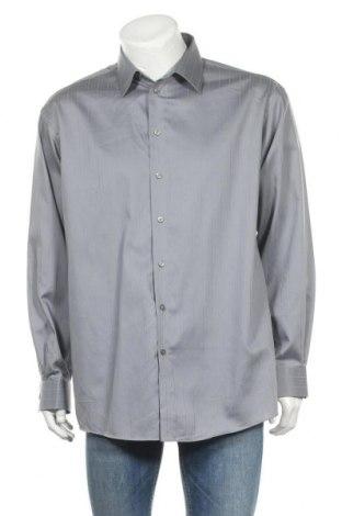 Мъжка риза Kenneth Cole, Размер L, Цвят Сив, Памук, Цена 24,10лв.