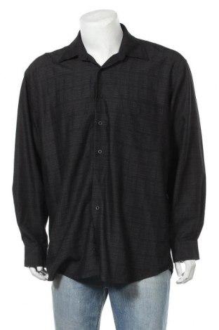 Мъжка риза Pierre Cardin, Размер L, Цвят Черен, 80% вискоза, 20% полиестер, Цена 12,08лв.